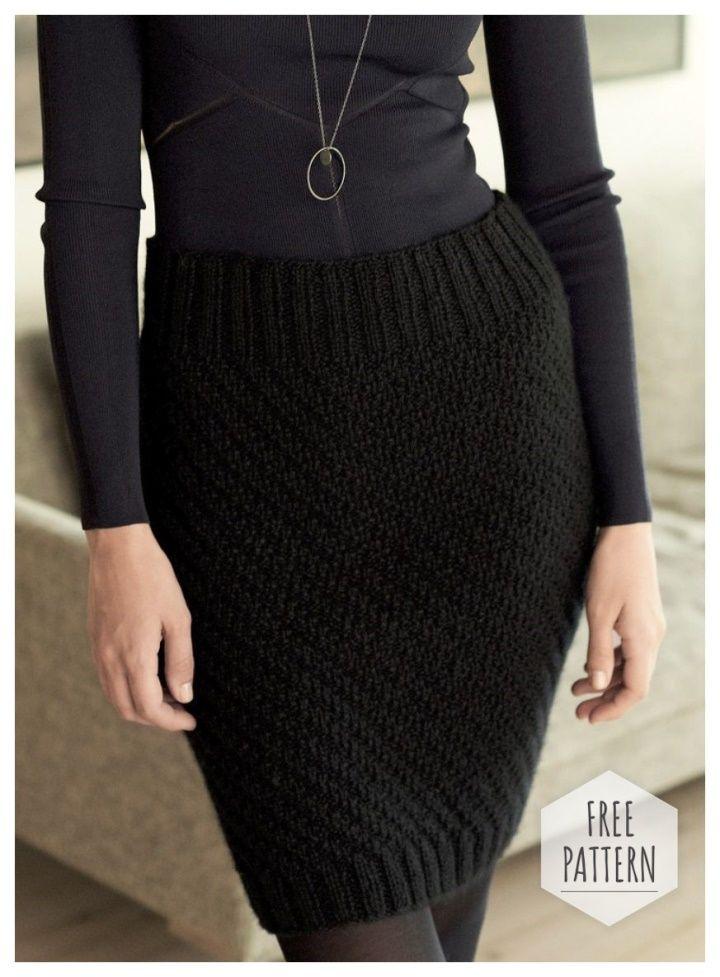 Black Pencil Skirt Crochet Free Pattern