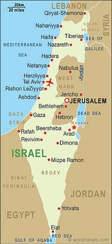 Israel_map | The Holy Land in 2019 | Israel travel ...