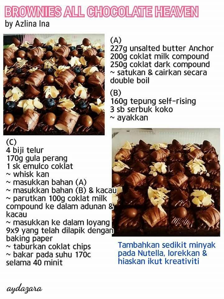 Brownies Chocolate Heaven Brownie Cake Recipe Recipes Brownie Recipes