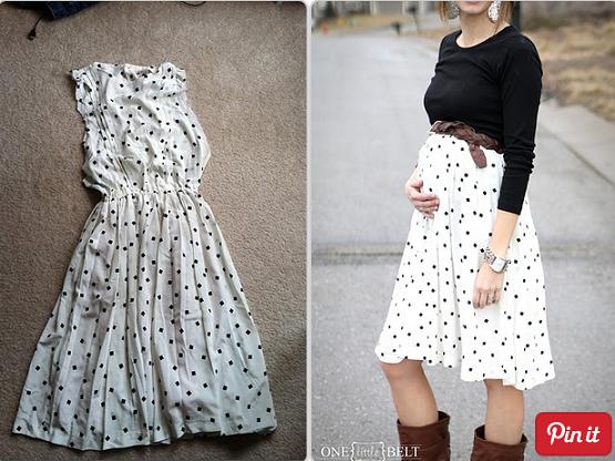 Ahorra dinero con estos excelentes tips para transformar tu ropa común, en ropa para embarazada.