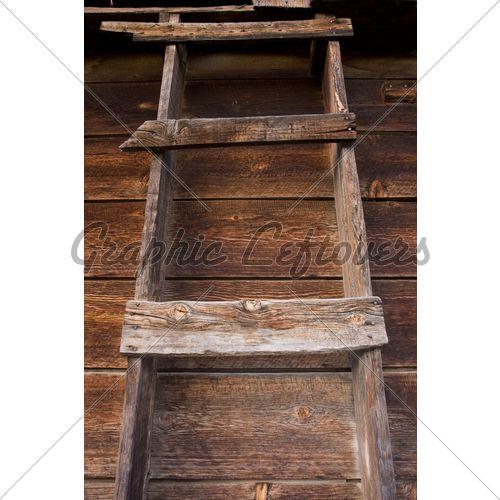 Primitive Wooden Ladder In Old Barn Old Wooden Ladders Wooden Ladder Old Barn