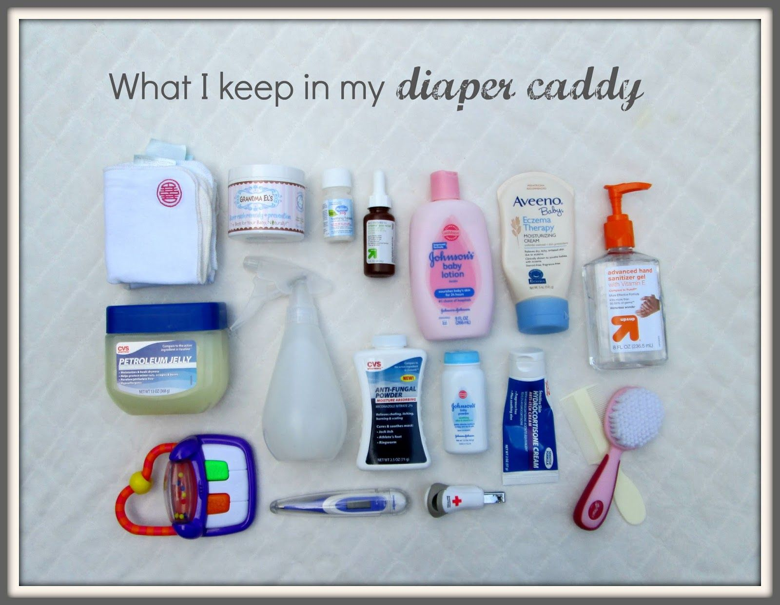 What I Keep in my Organized Diaper Caddy | Pinterest | Diaper caddy ...