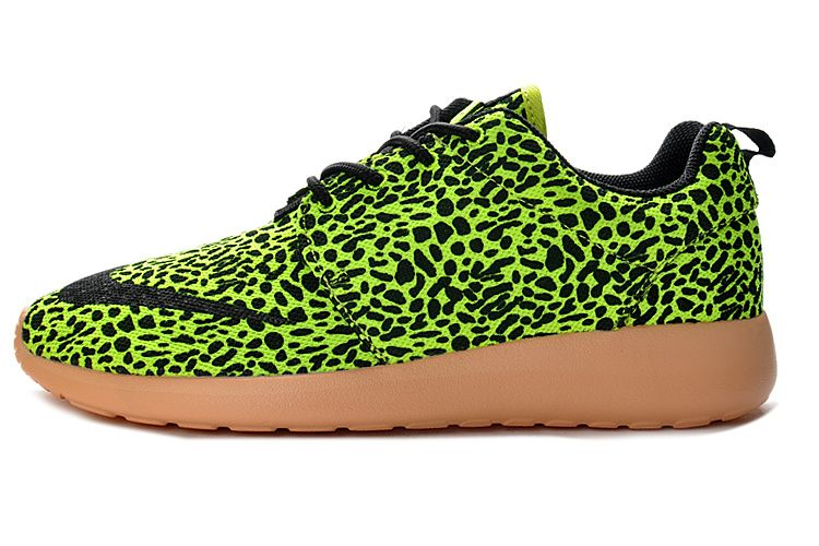 Nike Roshe Run Homme Chaussures FB Volt Leopard Noir Brun Achat