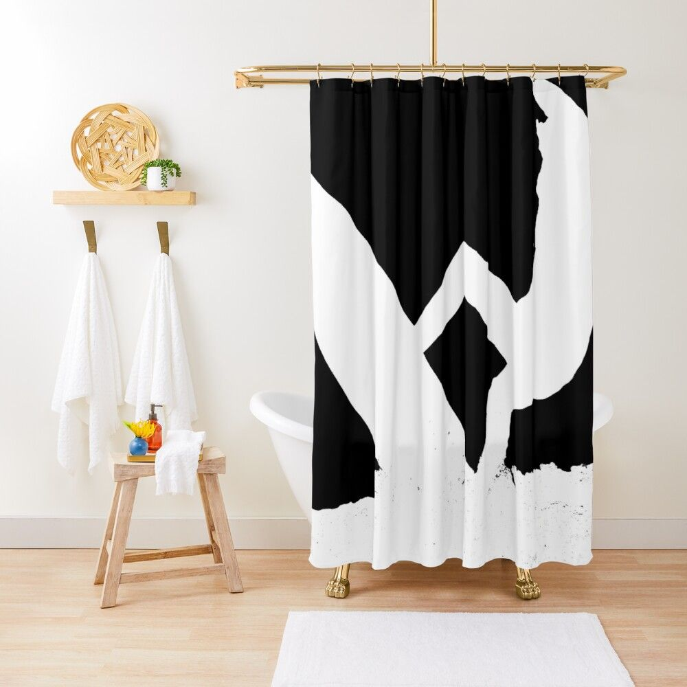 Manly Beach Surfer Silhouette Shower Curtain Designer Shower Curtains Manly Beach White Shower