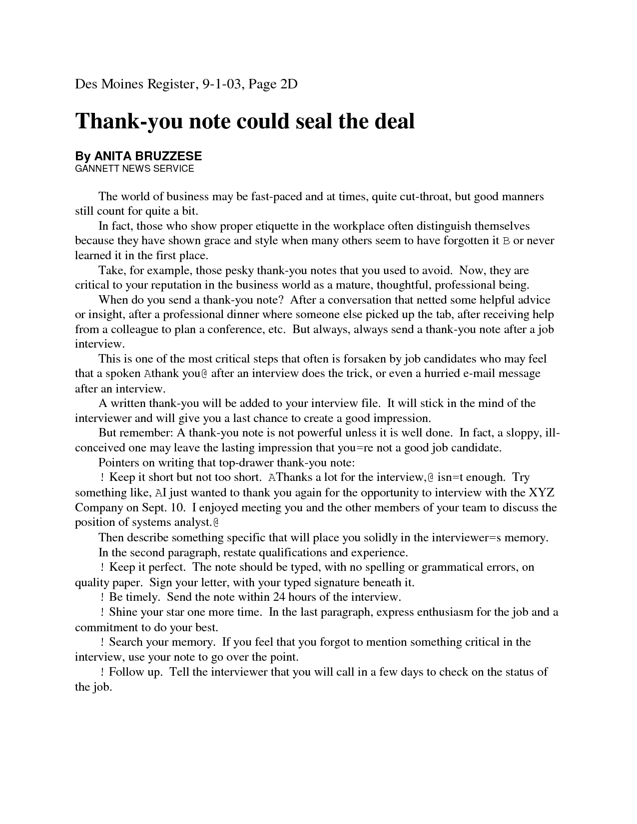 Professional Thank You Letter – Professional Thank You Letters