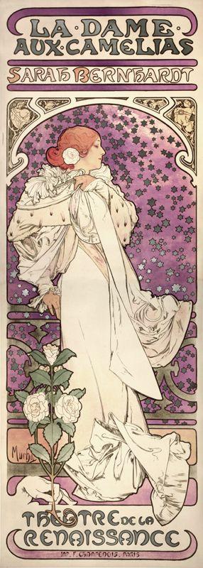 Alfons Maria Mucha, Litografia per la Dame aux camelias
