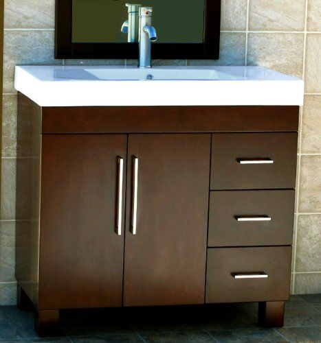 36 Bathroom Vanity Cabinet Ceramic Top Sink Faucet Cm1 Niersi Http