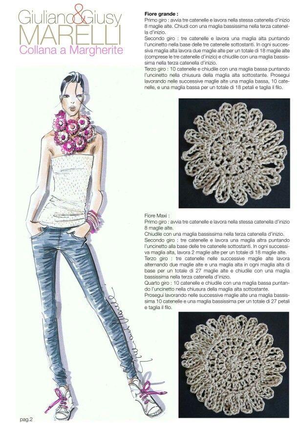 Collana margherite | accessori | Pinterest | Crochet bufanda, Ropa ...