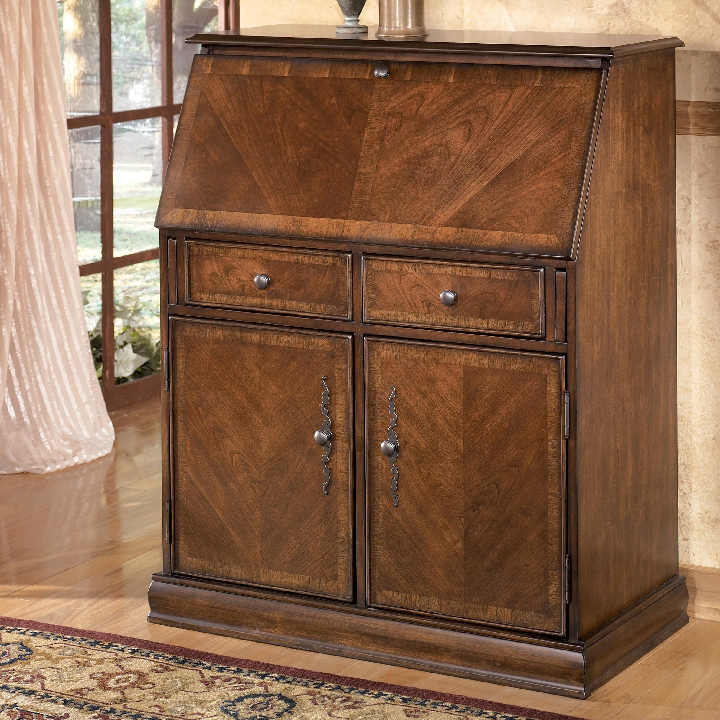 Hamlyn Traditional Drop Front Secretary by Ashley FurnitureAHFA