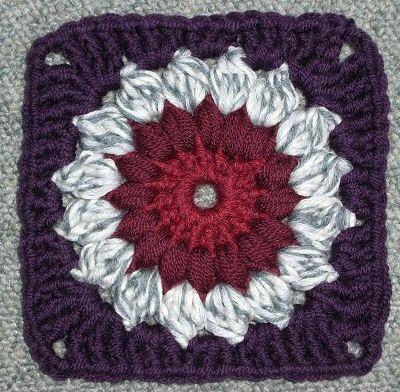 Simple Granny Square Pattern | Free Crochet Sun burst Granny Square ...