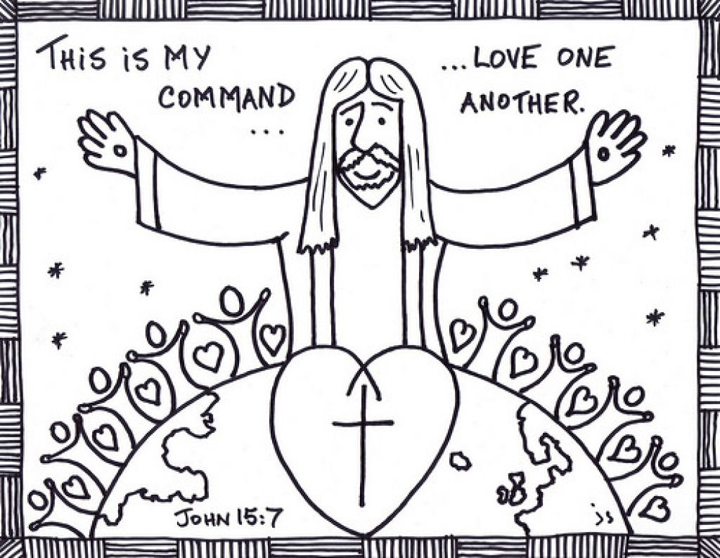 Love One Another Coloring