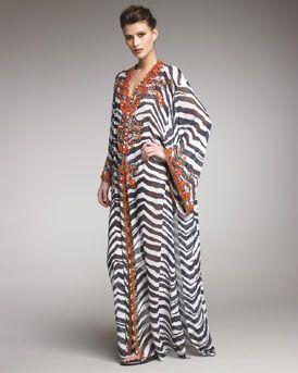 da5d49282 Pucci Coral-Beaded Zebra Print Caftan | Fashionista in 2019 ...