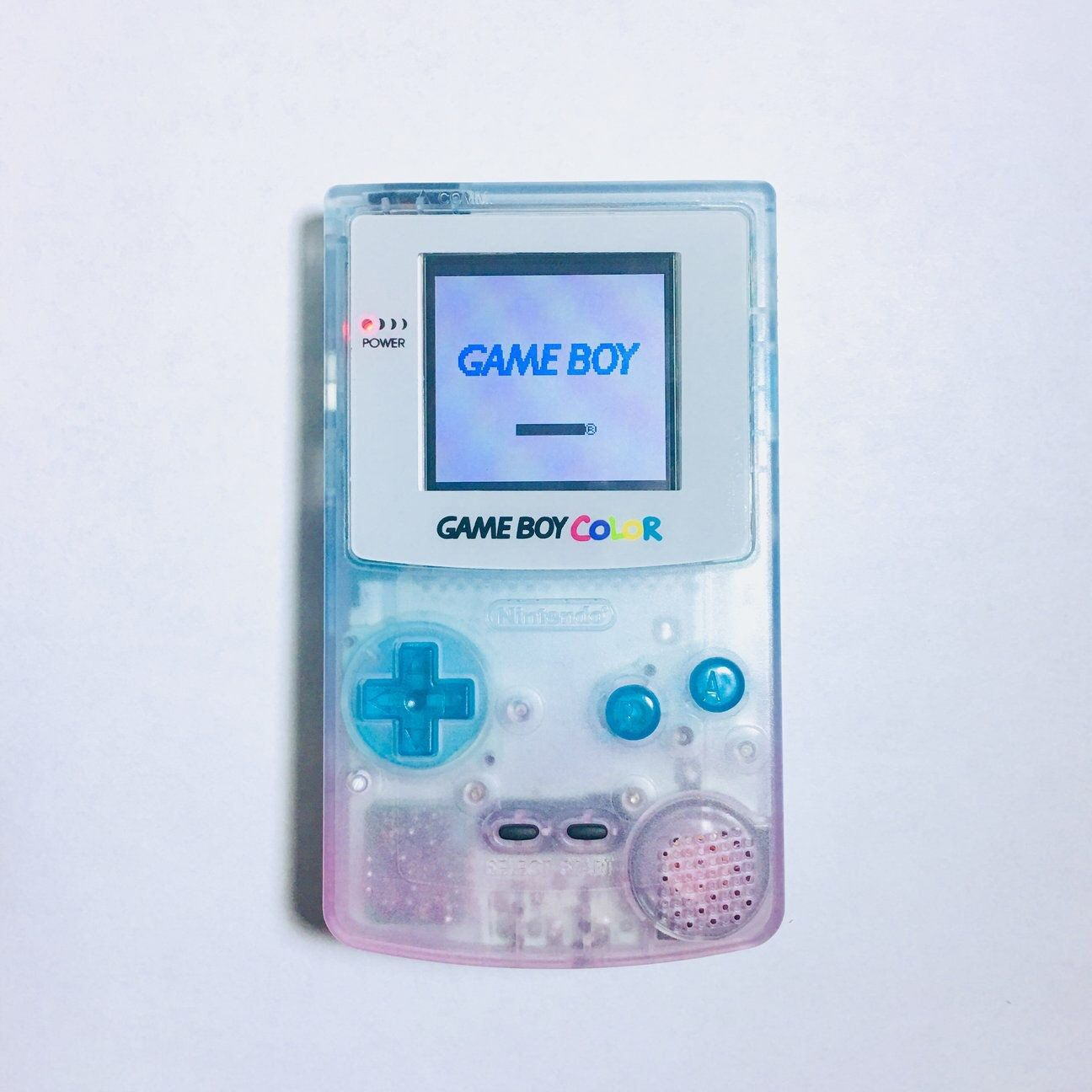 Custom Pink And Blue Fade Gameboy Color With Frontlight Or Etsy In 2021 Gameboy Blue Game Cute Games