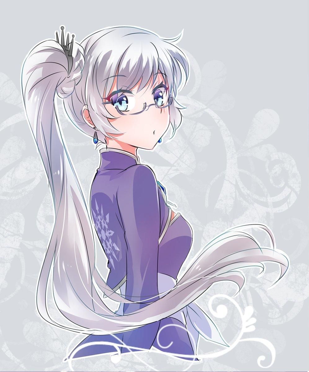Bespectacled Weiss Rwby Rwby Characters Rwby Anime