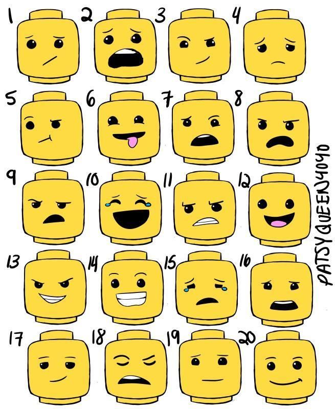 graphic relating to Lego Faces Printable named - Gallery - Gallery - 100 LEGO EXPRESSIONS