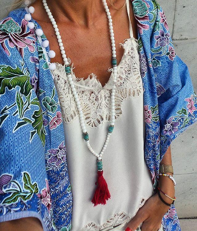 K i m o n o ♡ @denizina_beachwear kimono @misskcarolina top @2bijoux necklace