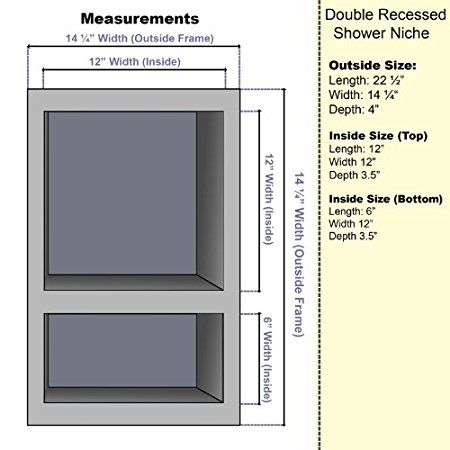 Pin On Shower Niche Size