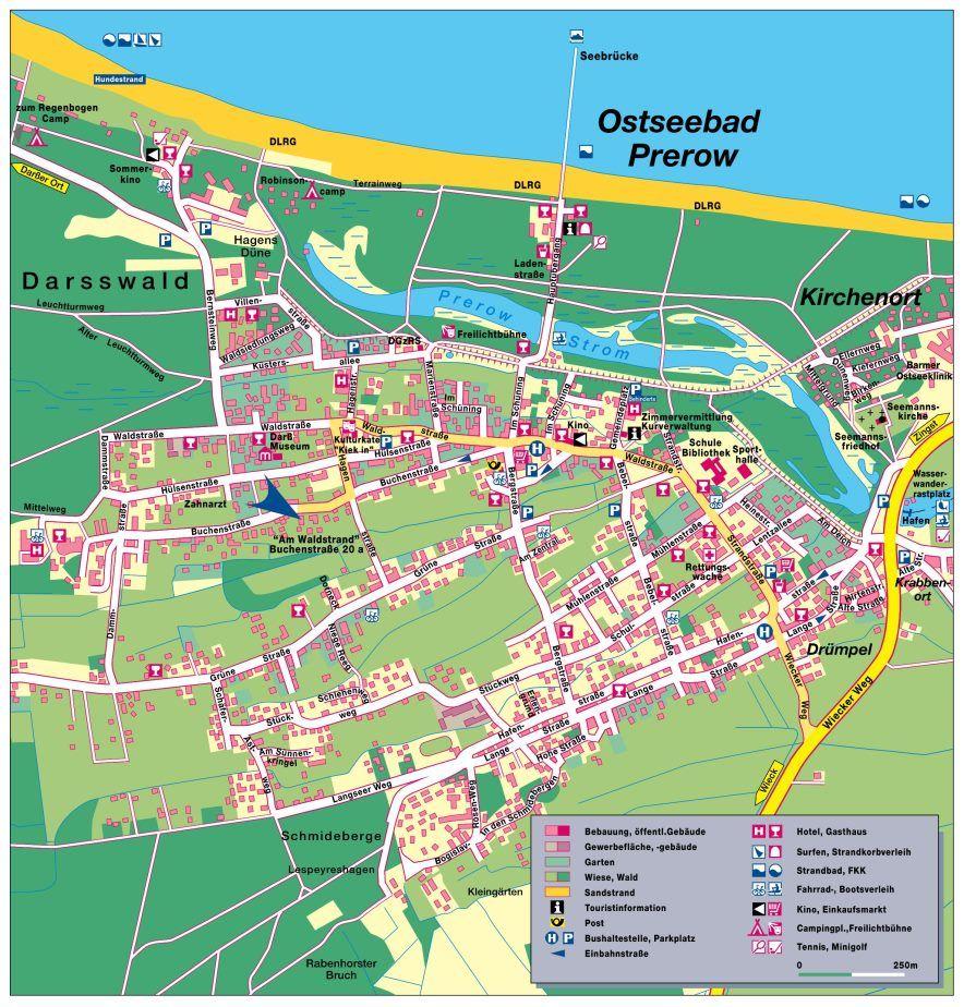 Karte Von Prerow Fur Die Detailsuche Prerow Darss Zingst Ostsee