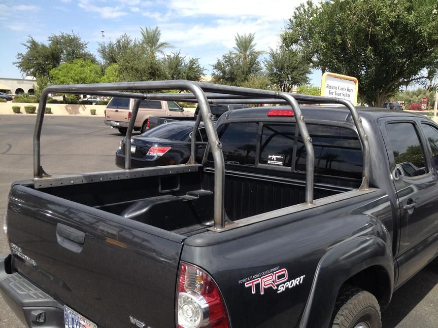 Weld Together Bed Cage Pack Rack On A Tacoma Truck
