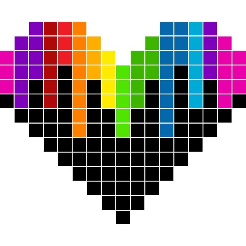 Pixel Art Coeur Pixel Art Coeur Dessin Pixel Dessin