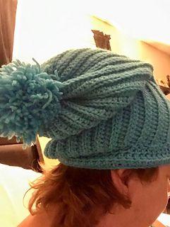 Night Cap Slouchy Hat - free crochet pattern by Sherry Smith ... c41609f46f1