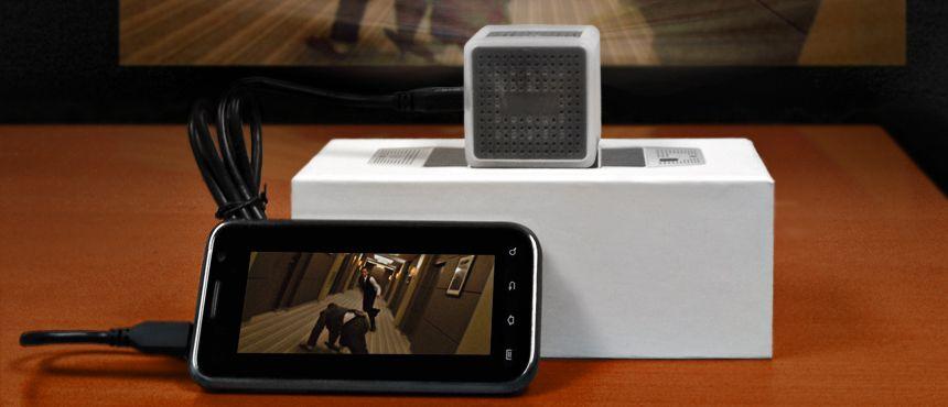CustomUSB miniQB SmartPhone Projector - Partner USB Products