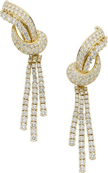 Estate Jewelry Earrings Diamond Gold Earrings