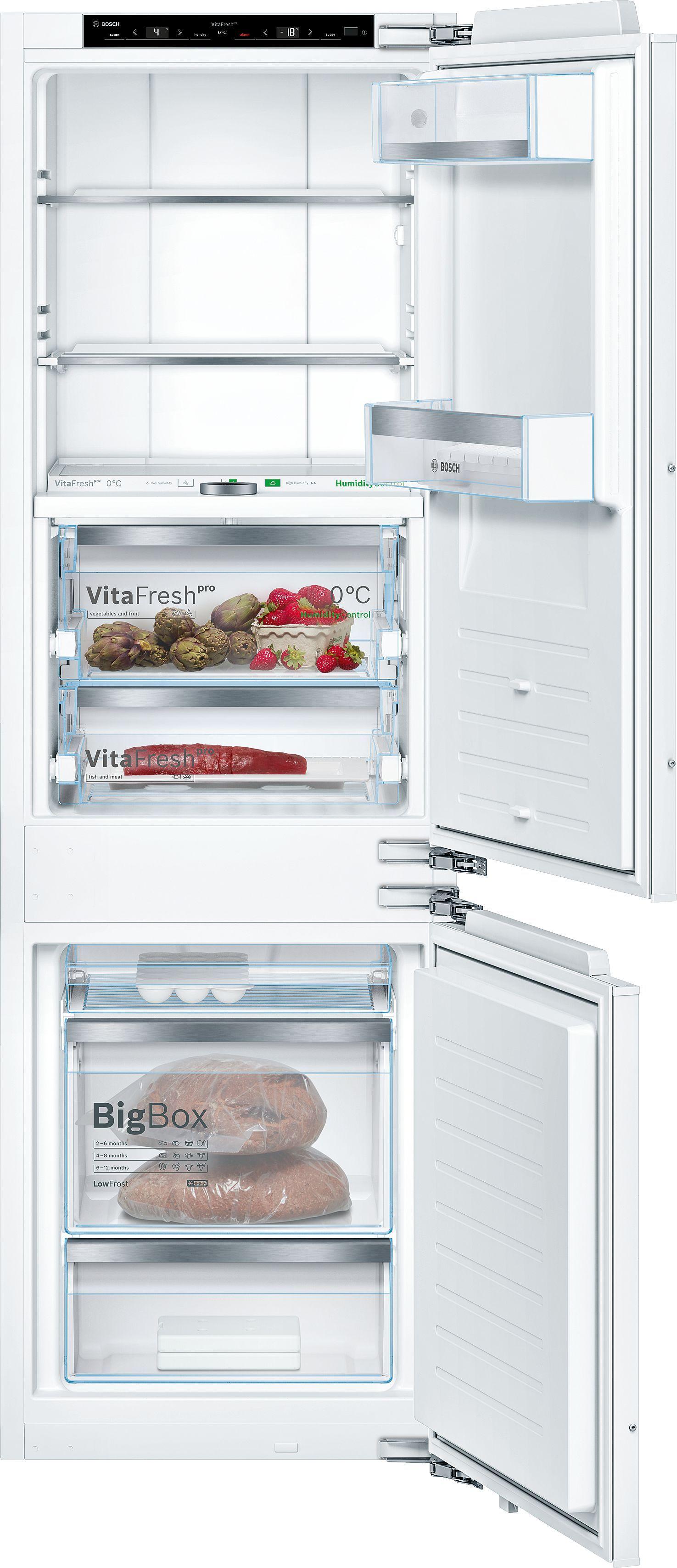 NoFrost, Vestavná kombinace chladnička/mraznička ploché