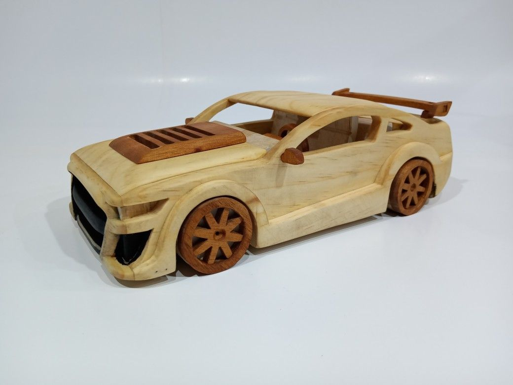 Ford Mustang Shelby Gt500 Wooden Toy Car Wooden Toy Cars Toy Car Wooden Truck