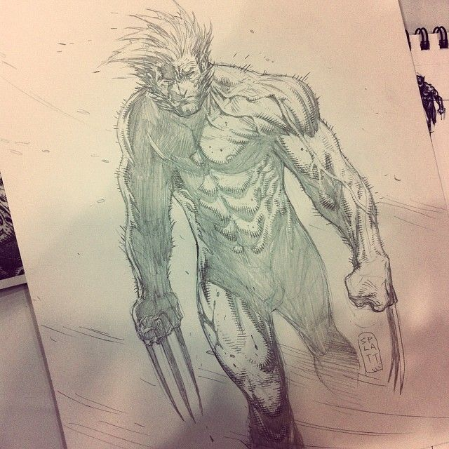 Comic-Coning. Wolverine. Weapon X. #mustdrawfaster#showcomssion