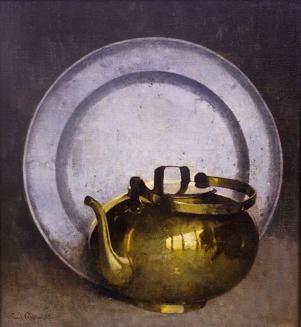 Emil Carlsen Pewter and Brass (also called Brass Kettle), 1929