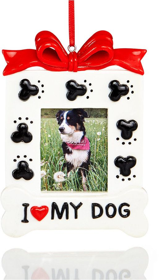 Holiday Lane I Love My Dog Picture Frame Ornament, Created for ...