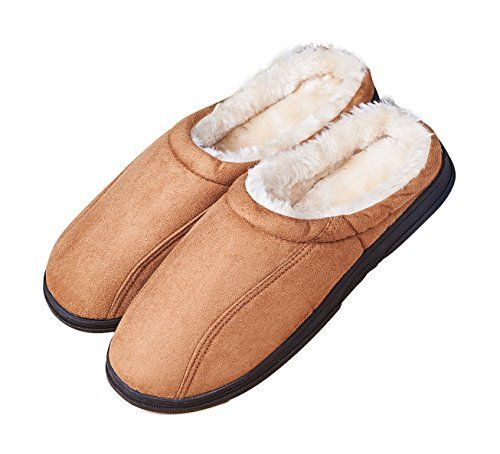 8ac339a41 LA PLAGE Men s Slip On Backless Moccasin Memory Foam Bedroom Slippers  http   www