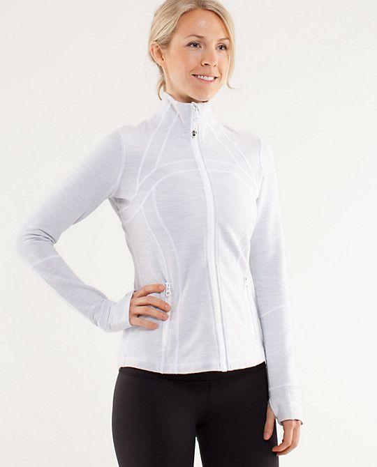 a45997f5642 Lululemon Define Jacket in white slub denim | My Wardrobe | Yoga ...
