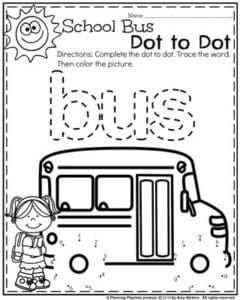 preschool school bus coloring pages | Back to School Preschool Worksheets | School buses ...