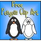 FREE cute penguin clip art - in black and white and color!