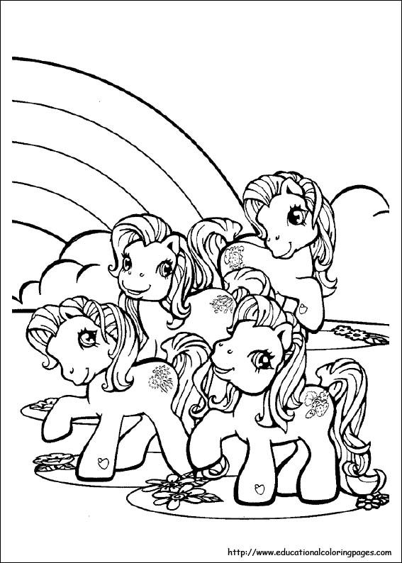 My Little Pony Coloring Pages free For Kids | Coloring | Pinterest ...