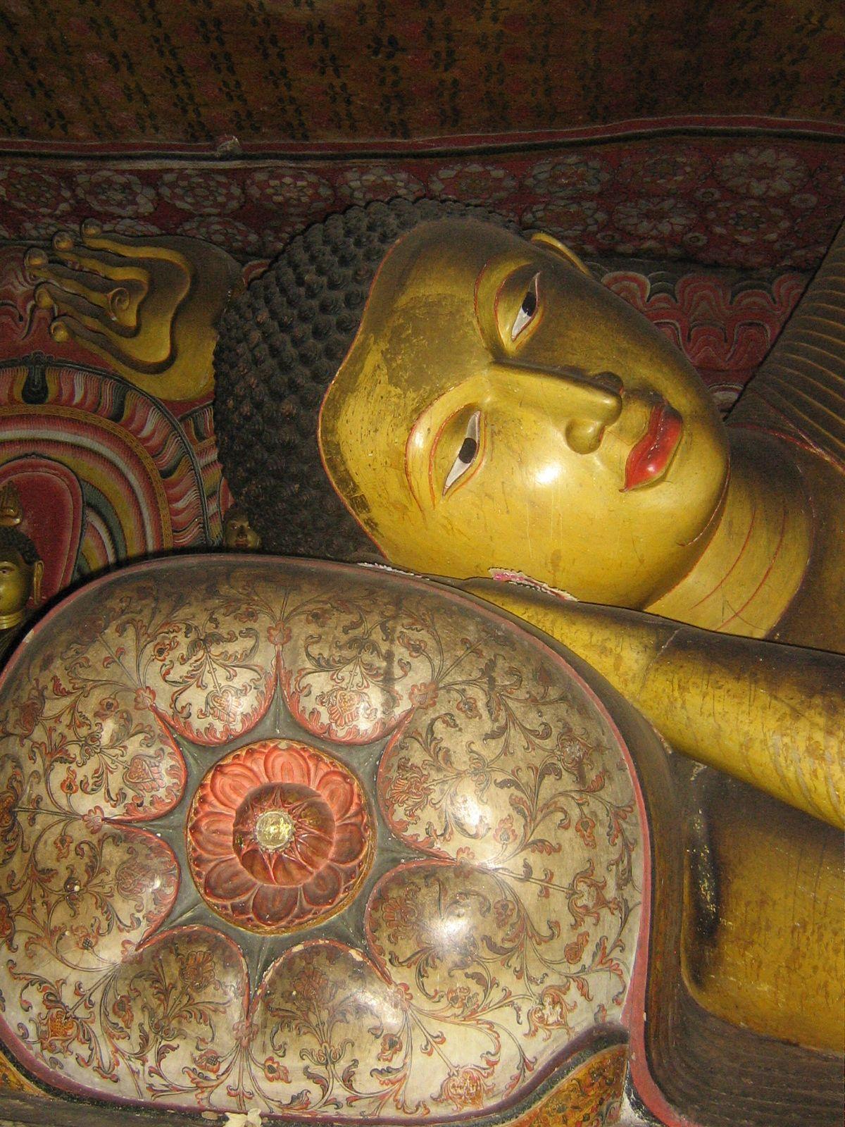 Gold buddha, Dambulla cave temple, Sri Lanka