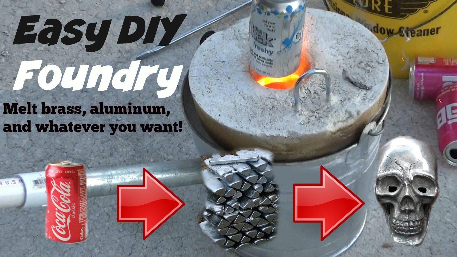 How To Make A Metal Melting Foundry. MELT ALUMINUM, BRASS
