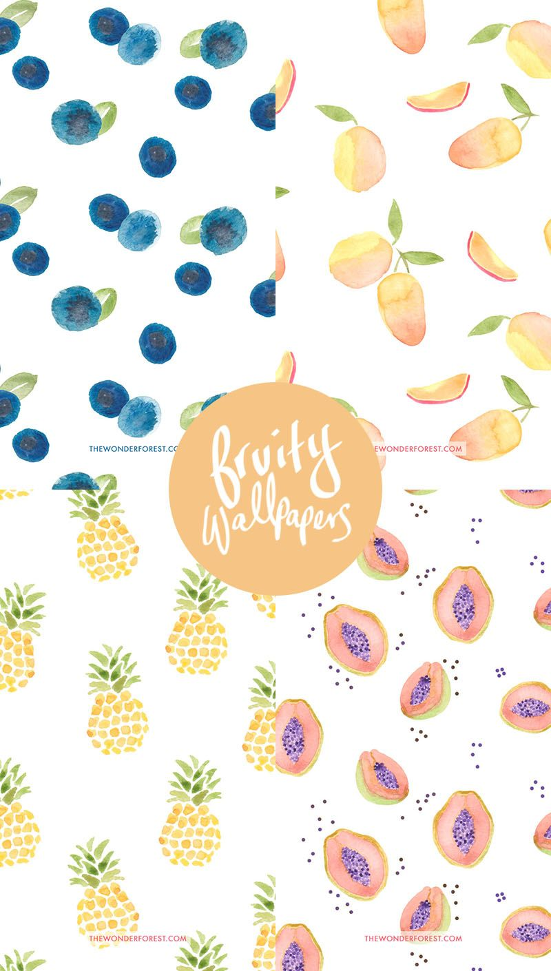 Tech Tuesday Fruity Iphone Wallpapers Wonder Forest Fruit Wallpaper Iphone Wallpaper Art Wallpaper