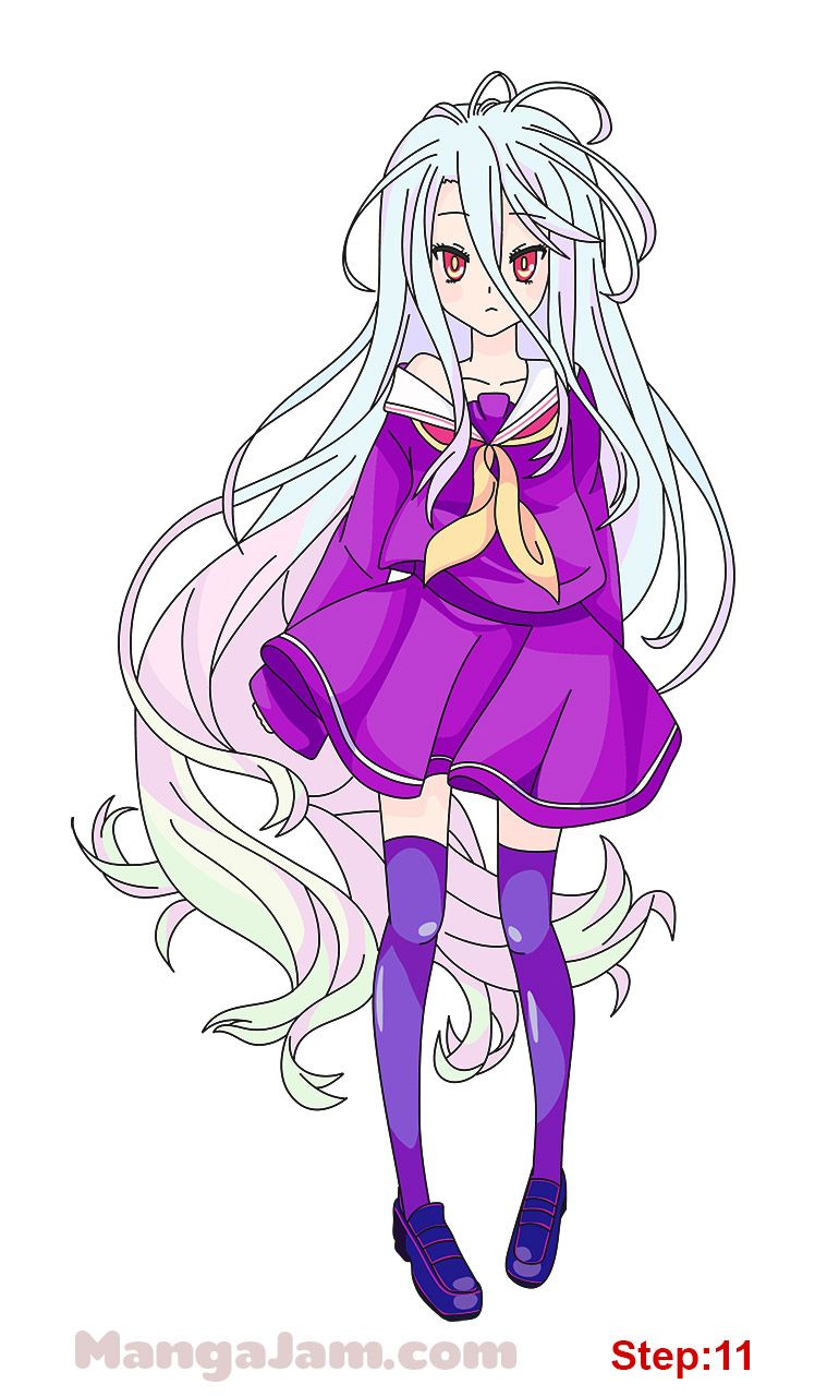 How To Draw Shiro From No Game No Life Mangajam Com No Game No Life Anime Drawings