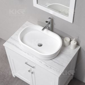 High Quality Bathroom Solid Surface Wash Basin Table Top Wash