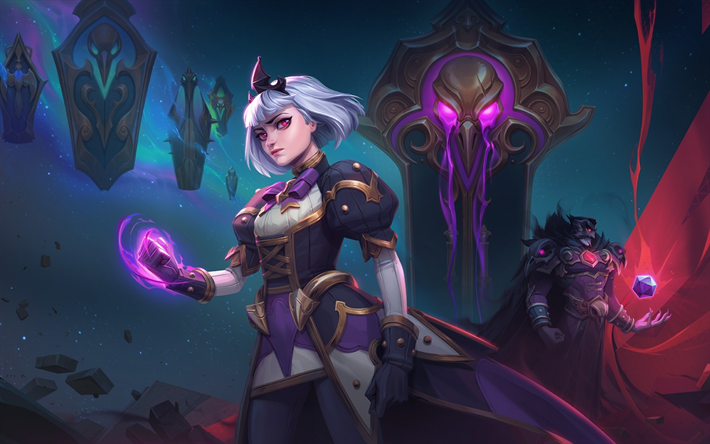 Download wallpapers Orphea, magic, warrior, Heroes of the