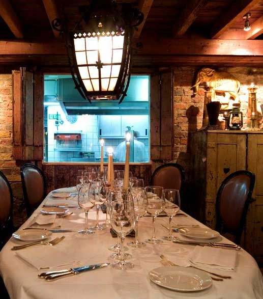 Stephanie Inn Dining Room: The Chef's Table At Les Trois Garcons