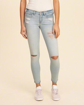 Hollister Low-Rise Crop Super Skinny Jeans