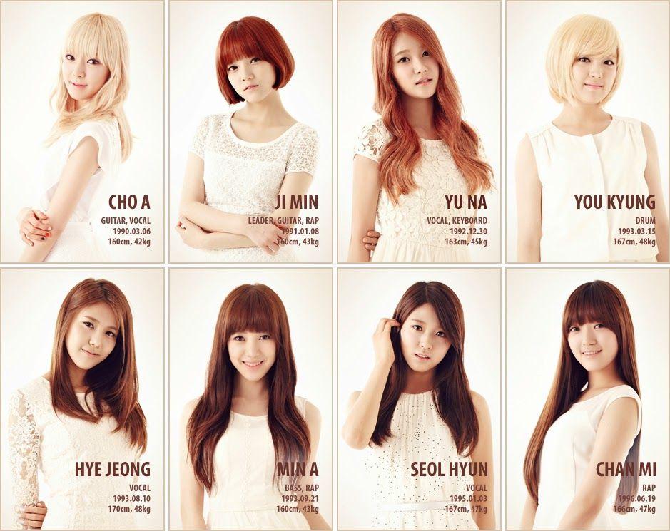 name  aoa debut  2012 members  choa  jimin  yuna  hyejung  minah  seolhyun  chanmi  youkyoung