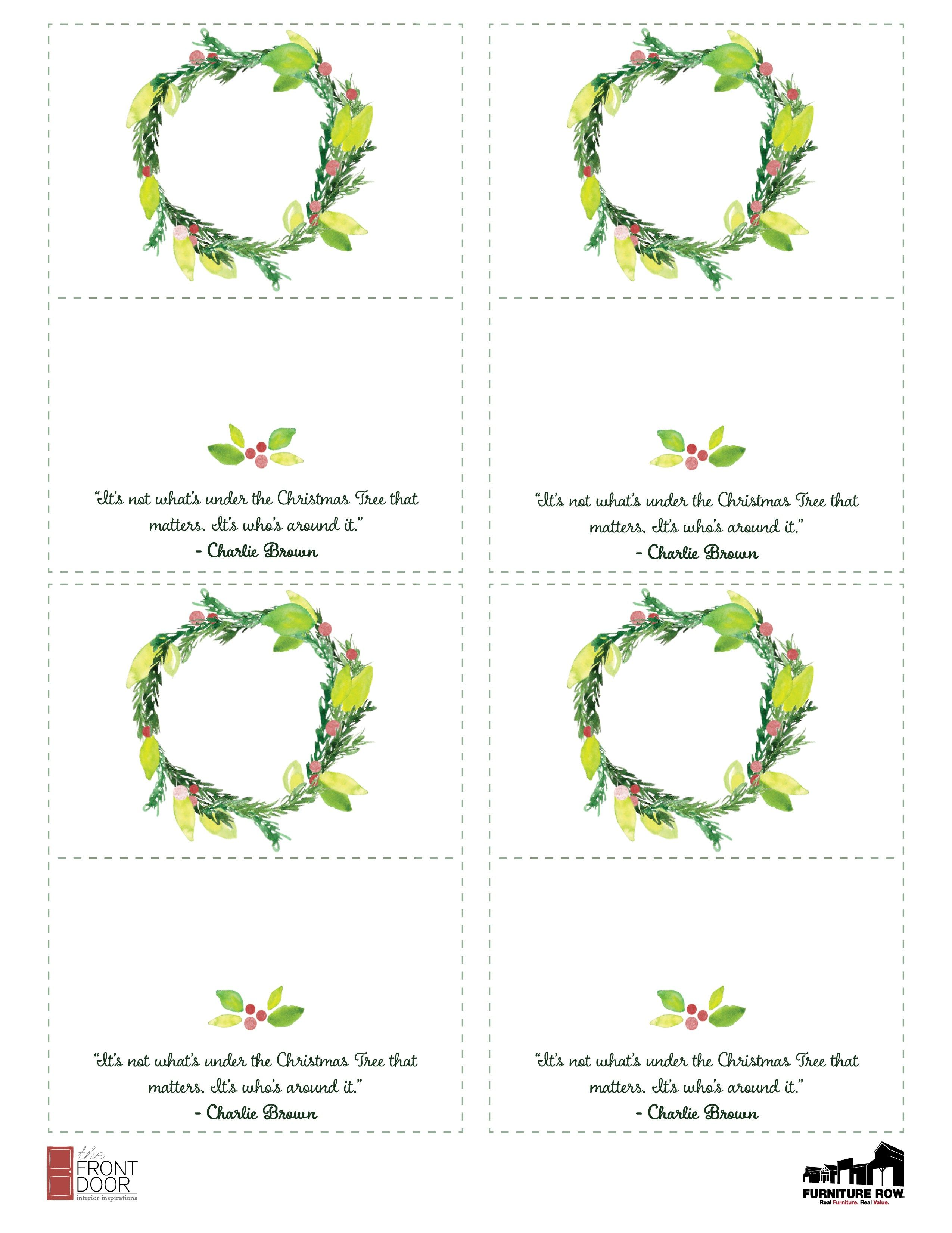 Printable Christmas Place Name Cards For Table The Front Door Christmas Place Cards Printable Place Cards Christmas Place