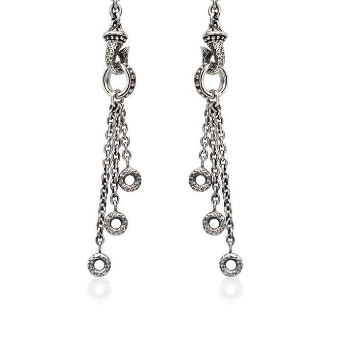 Scott Kay Ladies SS Dangle Multi Ring Hooked Earring. $195.
