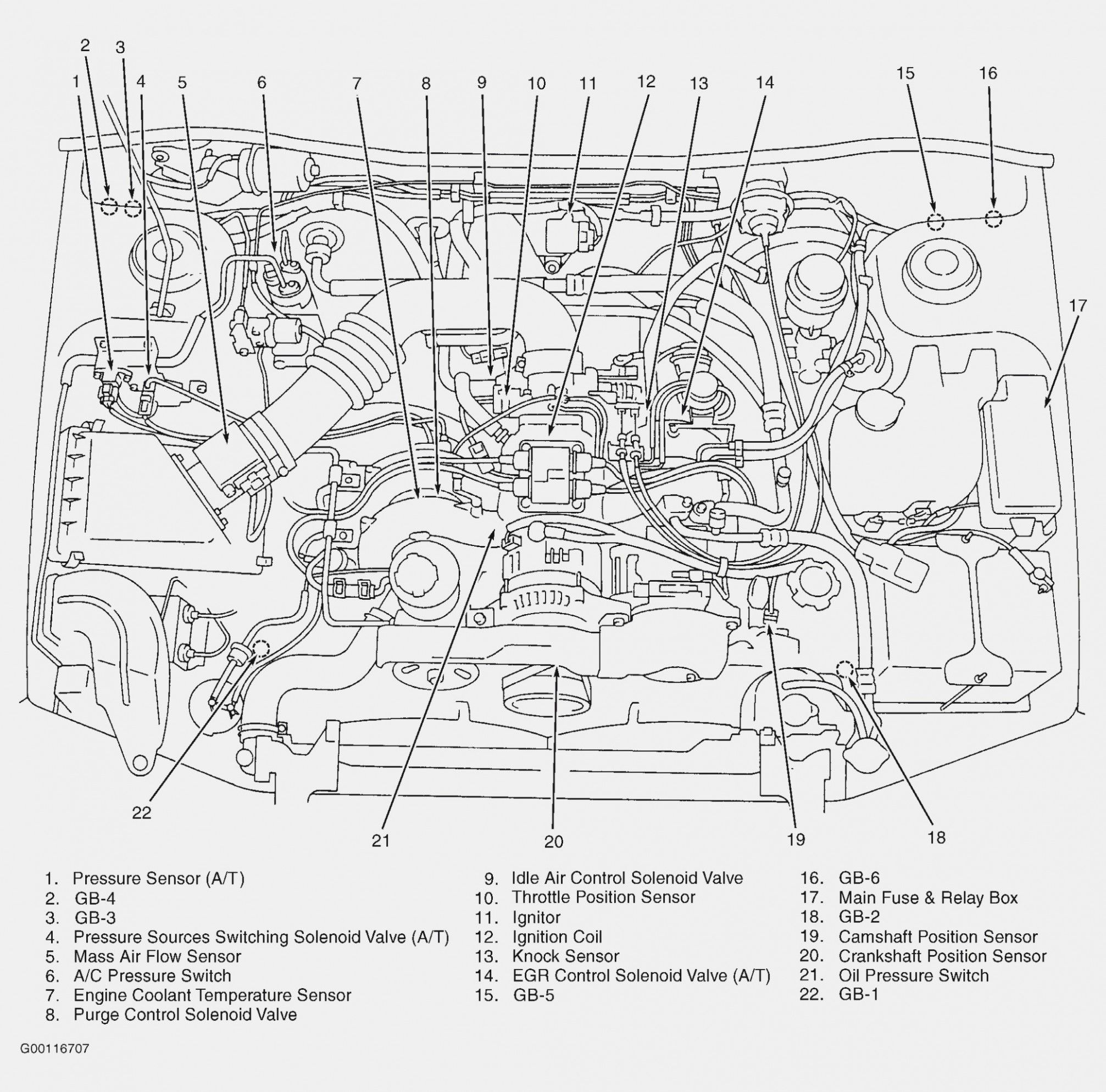 4 Subaru Tribeca Engine Diagram 4 Subaru Tribeca Engine