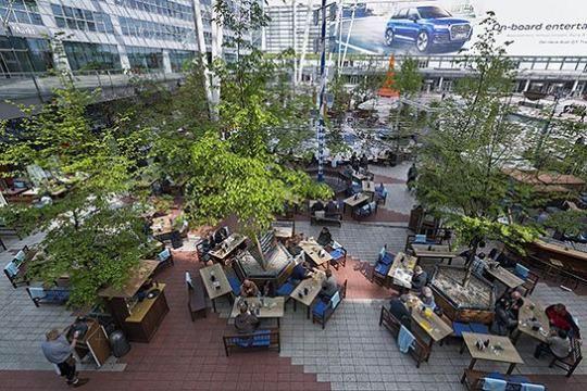 Munich Airport Beer Garden Largest Covered Beer Garden In Europe